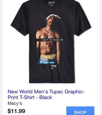 t-shirt tupac black t-shirt mens t-shirt