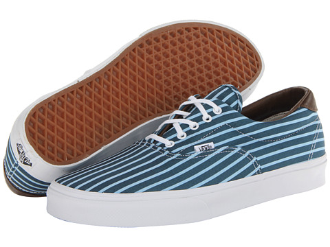 Vans Era 59 (Stripes) Blue/True White - Zappos.com Free Shipping BOTH Ways
