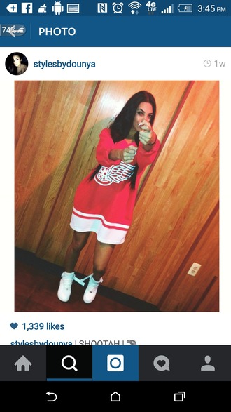 shirt jersey oversized red jersey authentic white shirt