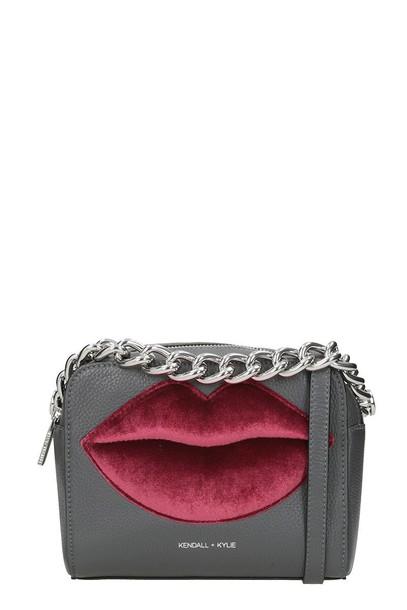 KENDALL + KYLIE lips bag shoulder bag grey