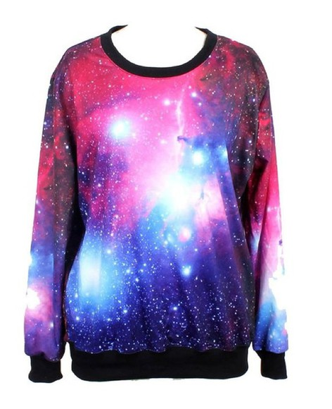 galaxy print sweater