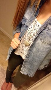 tank top,shirt,victoria's secret,american flag shorts,american eagle outfitters,white,khaki pants,army boots,jeans,denim jacket,necklace,pink,dress,lace,aeropostale,forever 21,delias,charlotte russe,blonde hair,outfit,sweater,skirt,leggings,jeggings,belt,jacket,jewels,high heels,purse,glitter,blood,american horror story