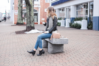 ohsoglam blogger jacket sweater shoes scarf sunglasses ankle boots gucci bag gucci nude bag black leather jacket