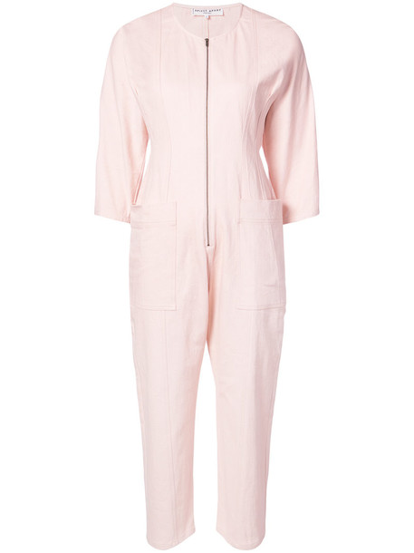 Apiece Apart - Fit Flare Flame Thrower jumpsuit - women - Cotton/Spandex/Elastane - 2, Pink/Purple, Cotton/Spandex/Elastane