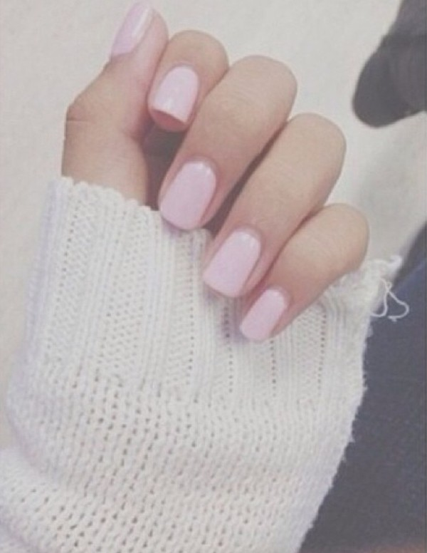 nail polish sweater baby pink cream nails cute pink
