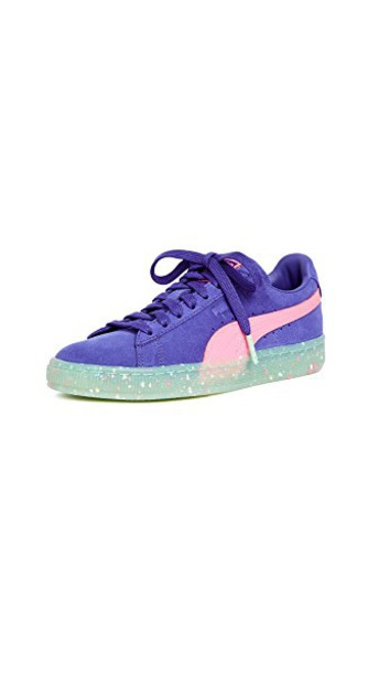 puma suede sneakers sneakers suede blue pink green shoes