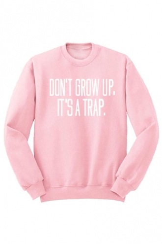 sweater cute fashion style trendy cool girly quote on it light pink long sleeves kawaii beautifulhalo