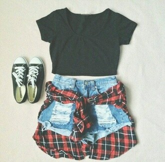 shirt crop tops black skirt grunge crop top grunge