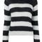Ganni - faucher stripe knitted jumper - women - mohair/wool - m, blue, mohair/wool