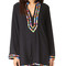 Nanette lepore mambo tunic cover up - black