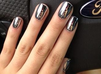 nail polish silver nail polish metallic chrome silver chrome nail polish helpmetofindit help me find this classy nail fashion