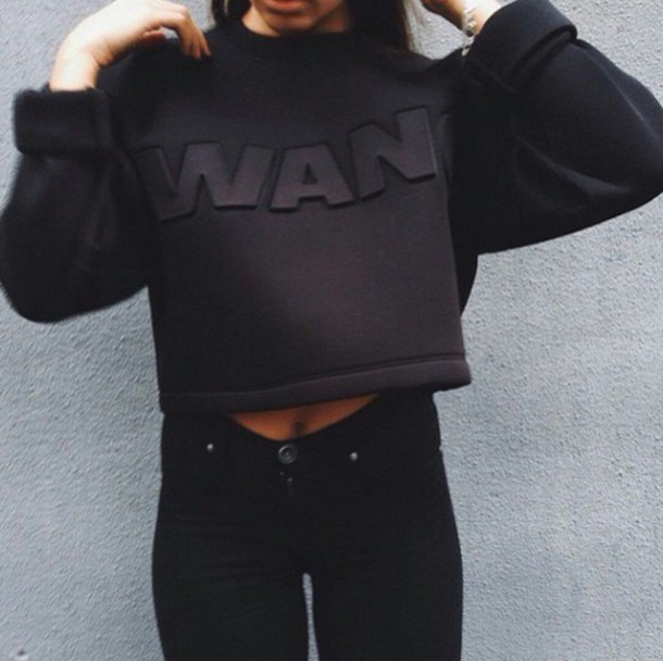 sweater wang black sweater cropped sweater cropped style stylish pants style streetlook street trendy trendy trendy teenagers teenagers teenagers fashion inspo fashion inspo on point on point clothing blogger popular sweater skinny jeans high waisted jeans