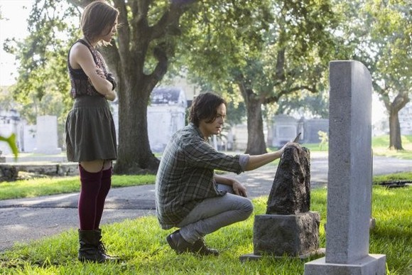 grass boots skirt ravenswood socks floral plaid graves garter skinnys graveyard trees grey tyler blackburn underwear shirt