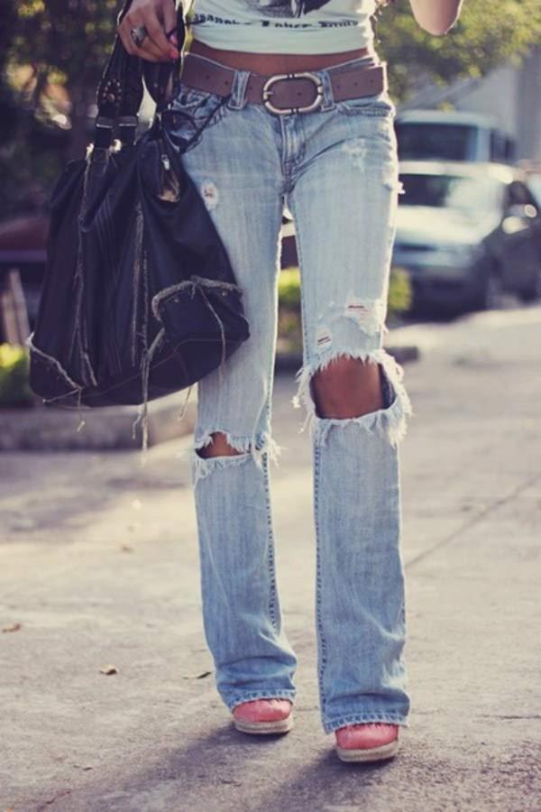 jeans holes pants boots purse acid wash boyfriend jeans faded faded jeans belt cropped denim