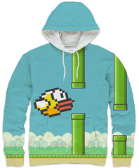 Flappy Bird Hoodie – Shelfies - Outrageous Sweaters
