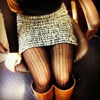 leggings tights skirt shirt cute textured tights