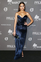 dress,strapless dress,strapless,bustier,bustier dress,olivia culpo,gown,prom dress,celebrity,velvet,velvet dress