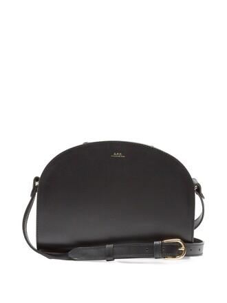 cross moon bag leather black