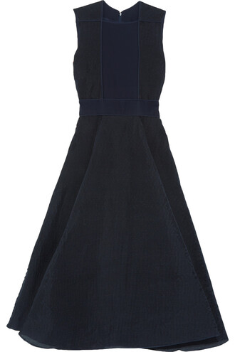 dress midi dress pleated midi navy