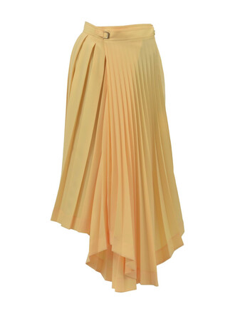 skirt pleated skirt pleated yellow