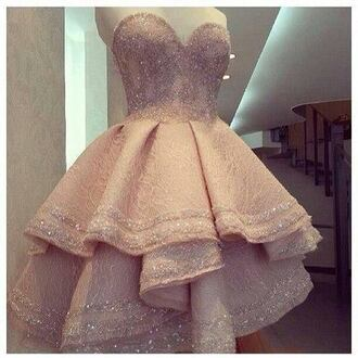 dress pink weheartit glitter dress bustier cute dress sweet prom dress prom gown prom backless prom dress short prom dress pink dress short homecoming dress homecoming homecoming dress sweetheart dress sweetheart neckline sparkle sparkly dress sequins party dress nude dress strapless dress nude