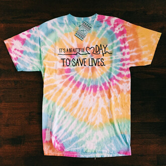 t-shirt grey anatomy cute gift ideas summer graphic tee quote on it on trend tie dye tie dye shirt tumblr tumblr outfit