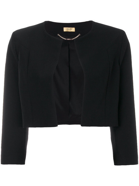 LIU JO jacket cropped women spandex black