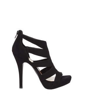 New Look | New Look Pedro Black Heeled Sandals at ASOS