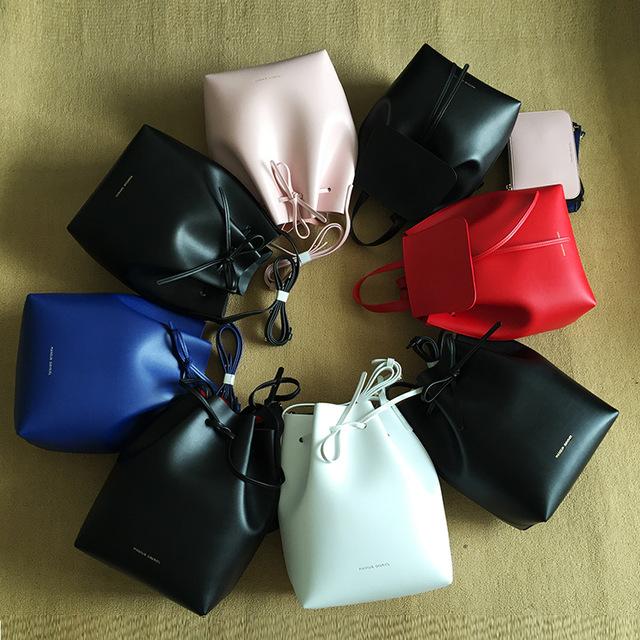 41d26909c2f0 Newest Mansur Gavriel bucket bag women genuine leather hand bag lady real  leathe shoulder bag cross bag,free shipping-in Shoulder Bags from Luggage &  ...