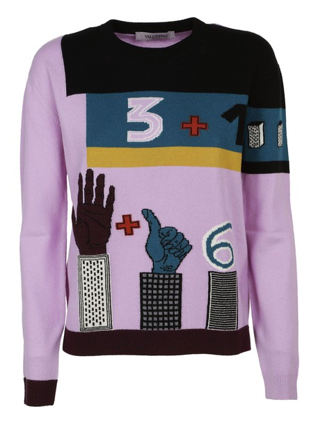 Valentino jumper purple pink sweater