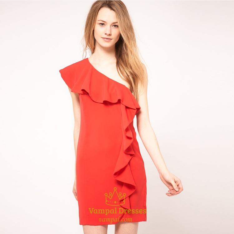 One Shoulder Short Prom Dress, Short One Shoulder Dresses For Prom ...