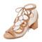 Marion parke brooke lace up sandals - camel