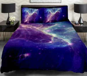 Green Galaxy Bedding Blue Cloud Space Duvet Cover Popular Bedding Set Queen/Full/Single Galaxy Sheet Nebula Quilt Duvet Cover With 2 Matching Nebula Pillow Covers
