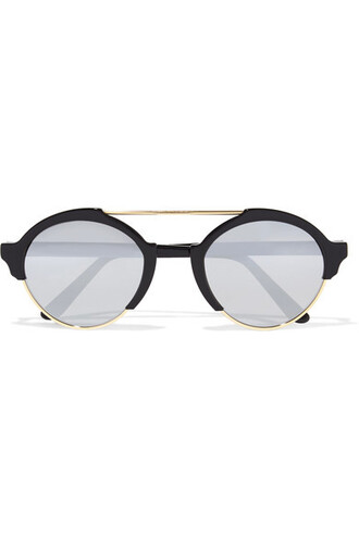 sunglasses mirrored sunglasses gold black