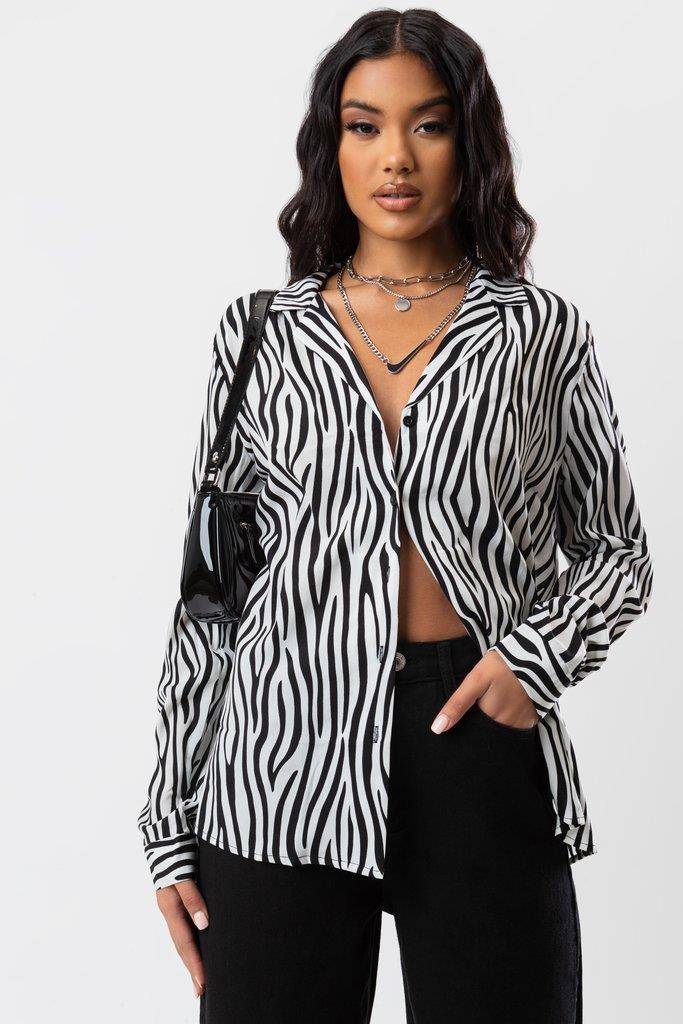 Lena Zebra Shirt