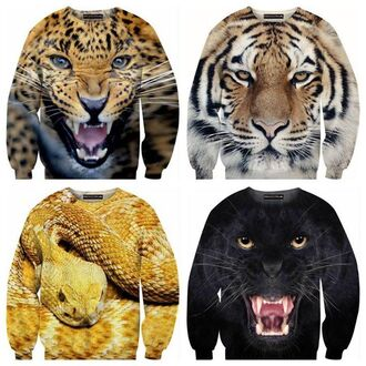 sweater animal print tiger print leo snake panther snake print