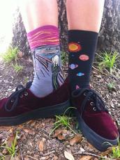 shoes,child,velvet,socks,planets,van gough,velvet shoes,art in our blood,space,galaxy print,lace up,multicolor