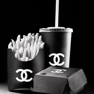 home accessory food chanel food chanel drinks fries bugers