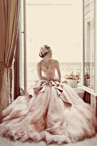 dress blush dress princess wedding dresses pink dress gown cute dress fashion wedding dress sweet 16 dresses style pink xv