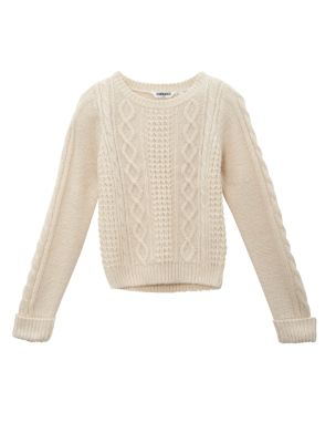 Teens cream cable knit jumper