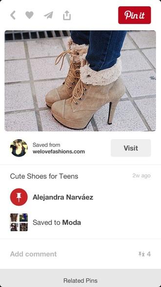 shoes fall trend heels fur