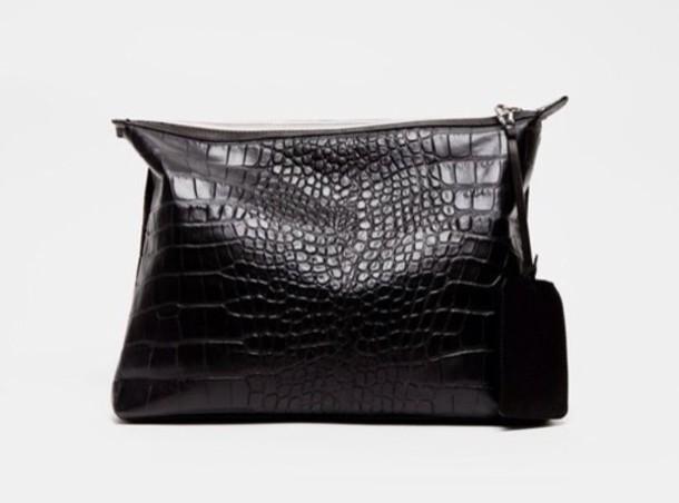 bag leather crocodile handbag