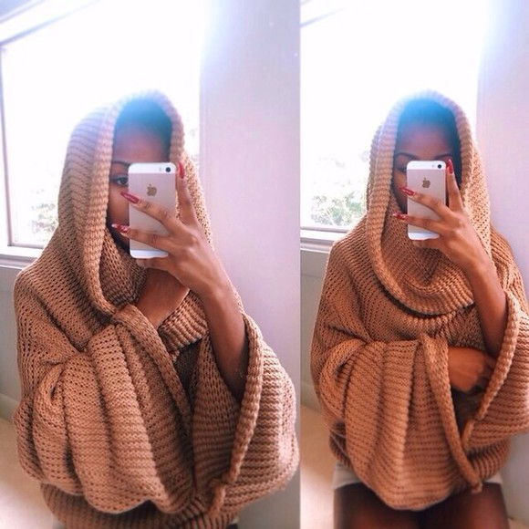 cream cardigan jacket instagram blouse knit knit, sweater muslim muslim outfit egyptian tumblr khaki oversized sweater hoodie hoodie sweater winter outfits knitted sweater nude tumblr sweater hooded sweater