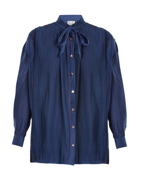 THIERRY COLSON blouse navy top