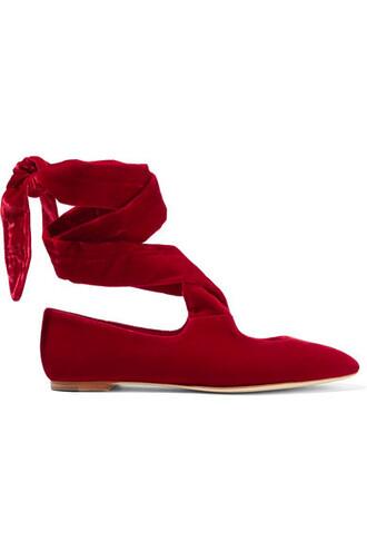 ballet flats ballet flats lace velvet shoes