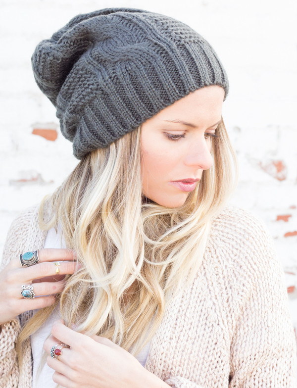 hat beanie slouchy knit