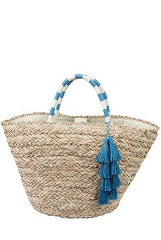 bag blue brown fallon and royce tote bag white bikiniluxe
