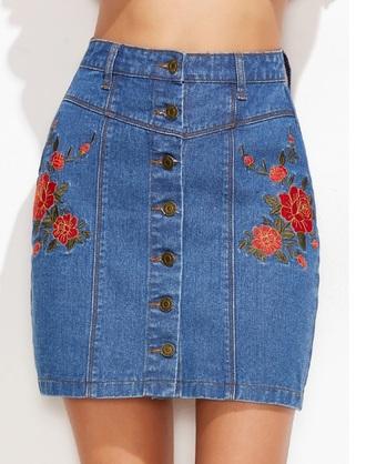 skirt girly girl girly wishlist denim denim skirt button up button up skirt button down shirt floral