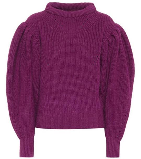 Isabel Marant Brettany wool sweater in purple