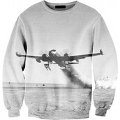 sweater,hoodie,jumper,black and white,grey,plane,hipster,indie,hipsta